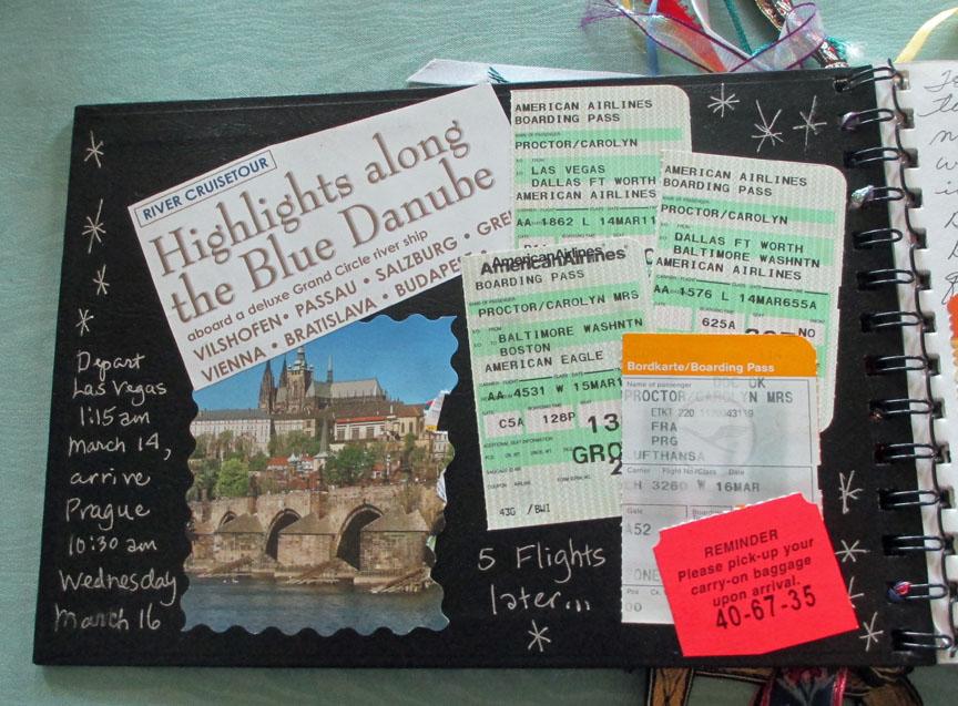 Blue Danube, art journal, sketching, watercolor