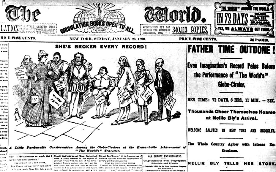front page of The New York World, 26 January 1890