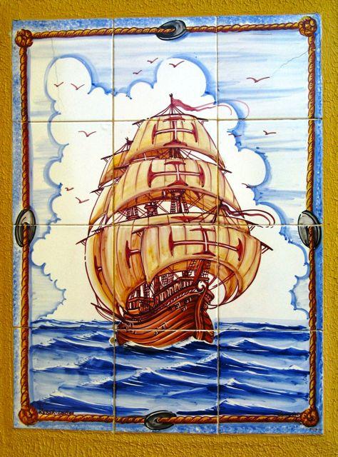Portugal, wall tile, Magellan