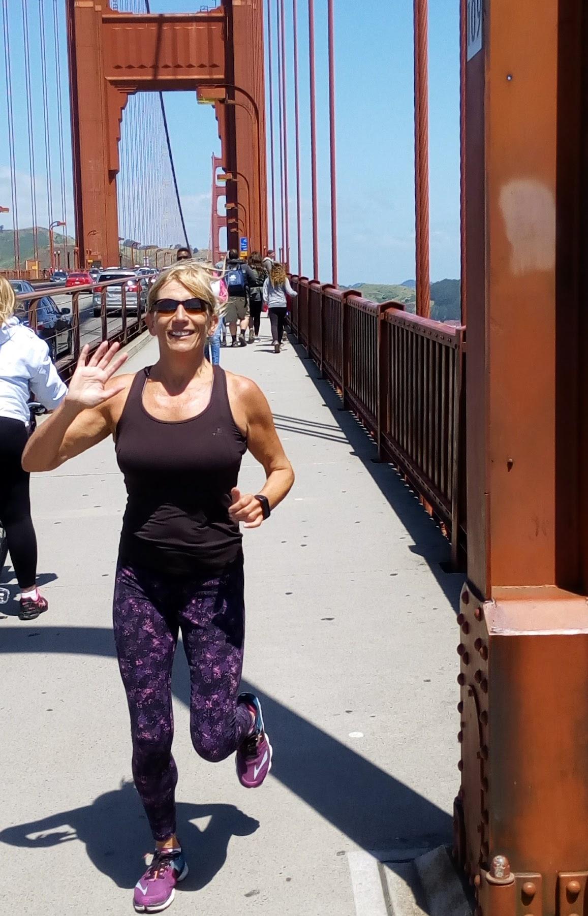 San Francisco Bay Area - running over the bridge