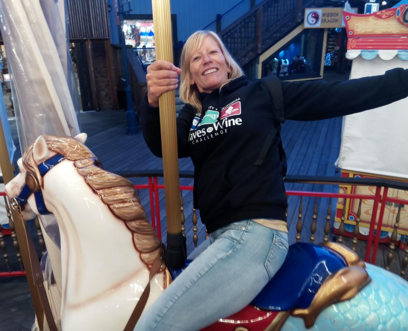 San Francisco Bay Area - Mogsy on the carousel