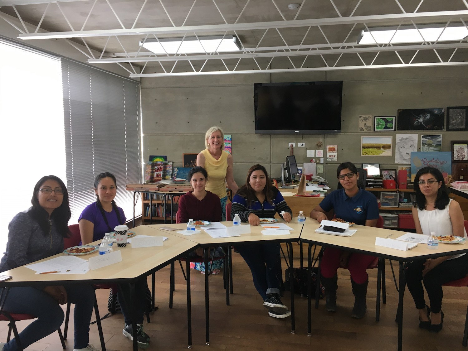 teacher with students in Mexico