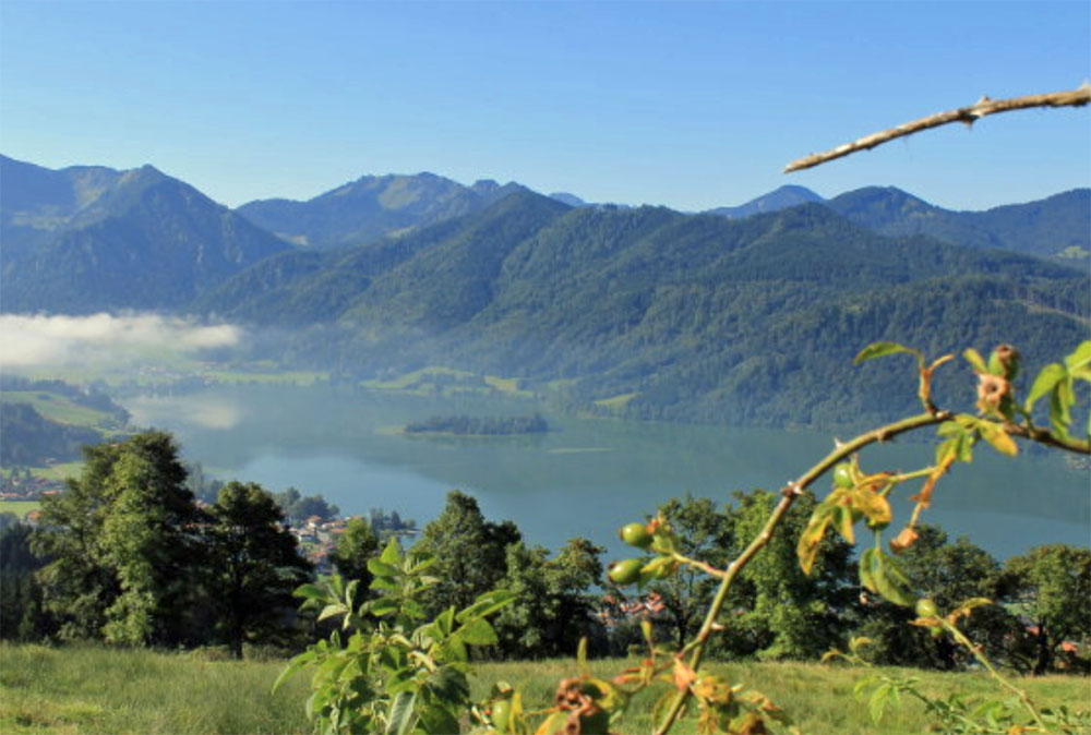 View of Schliersee in Bavaria