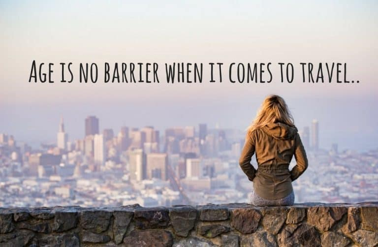 Girl looking out over a city - age is no barrier quote
