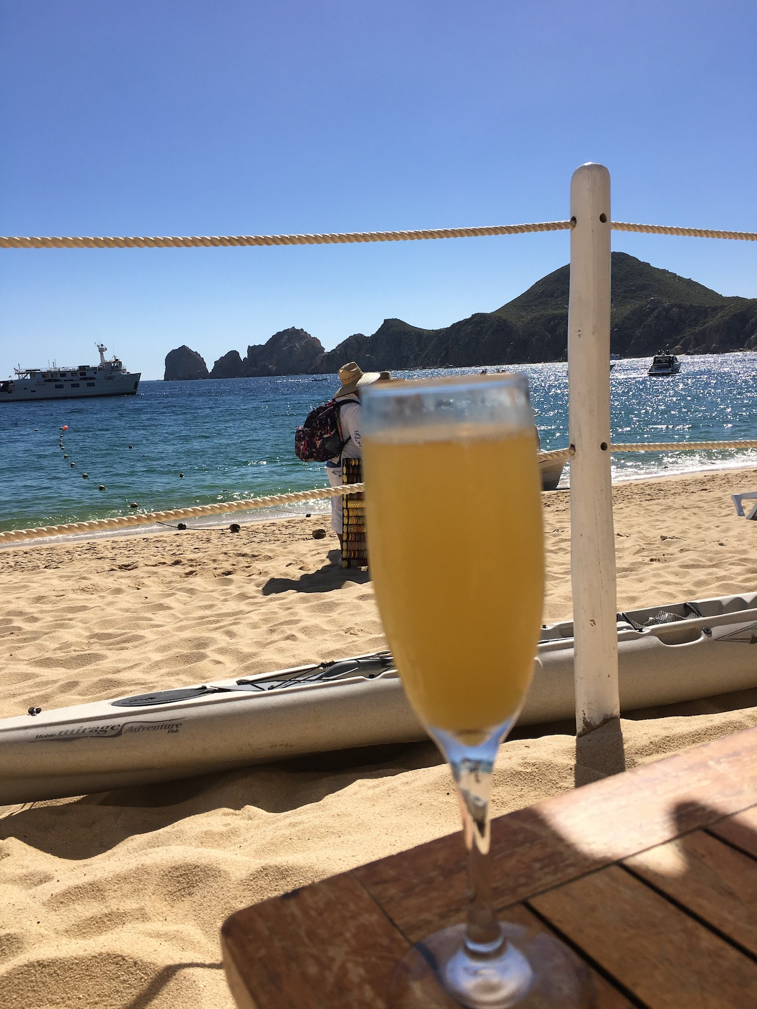 drink on the beach scene