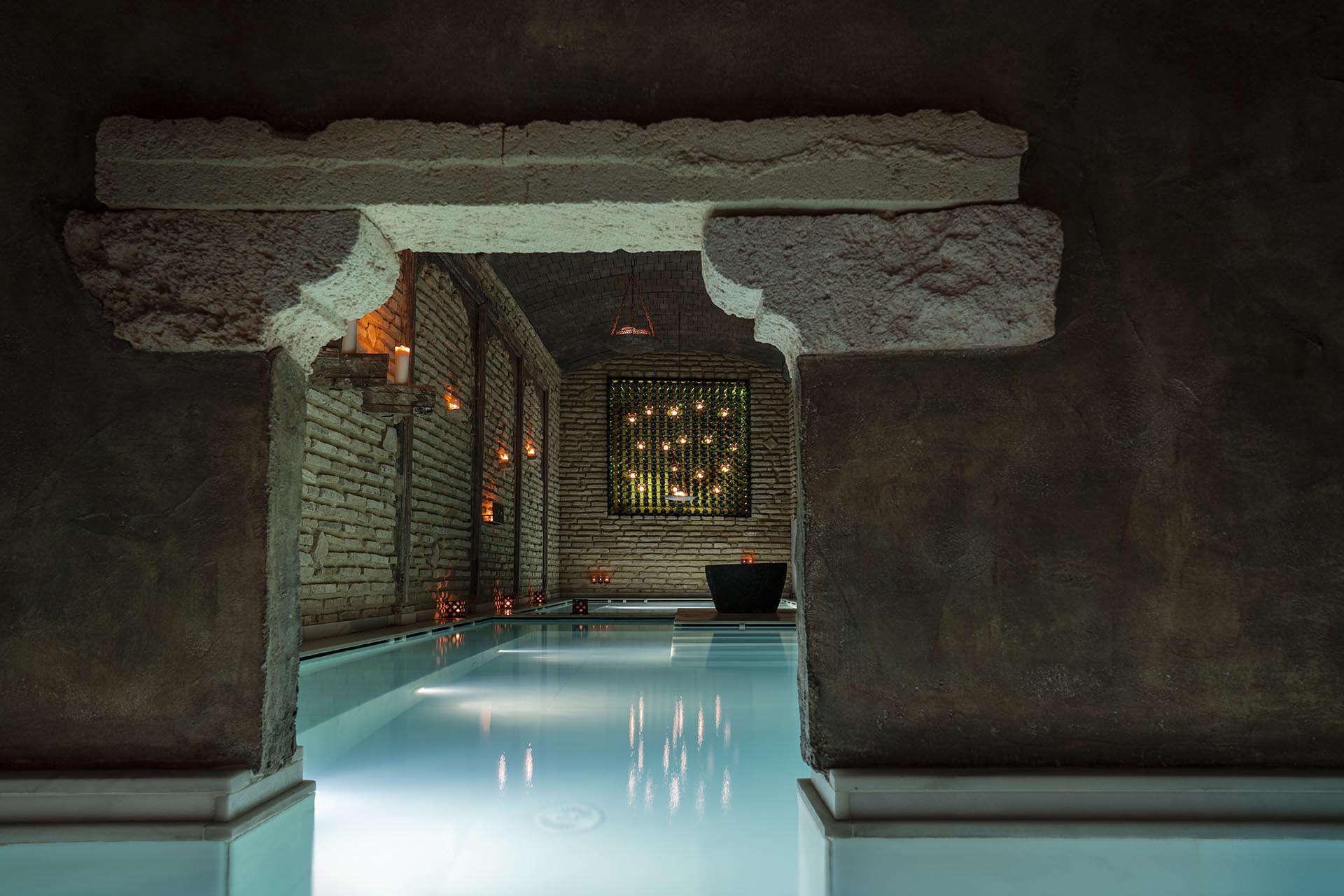 ancient, underground spa baths at Aire Hotel & Spa Almeria
