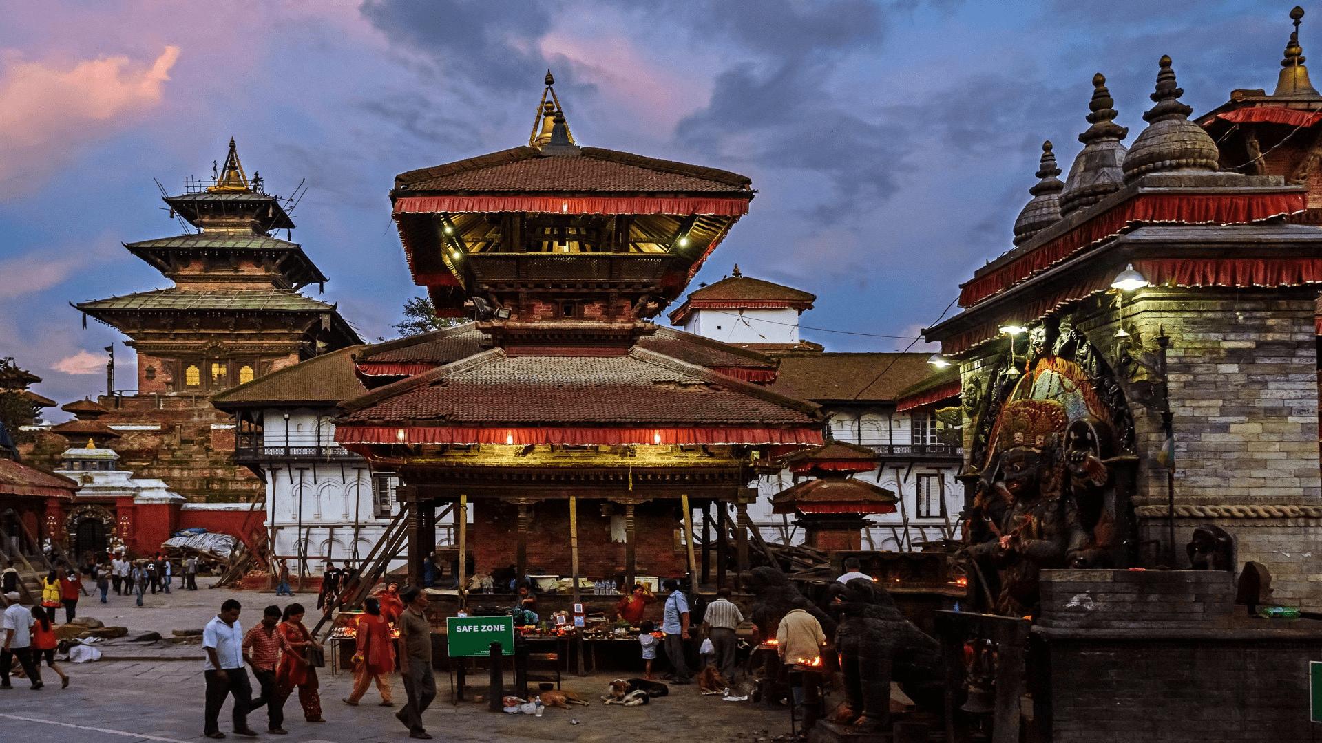Kathmandu near sunset