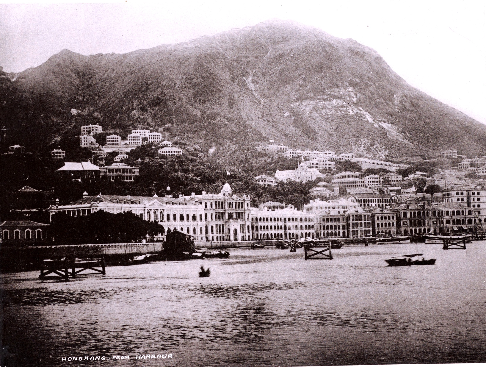 Hong Kong Harbour, 1889. (Digital image courtesy of the Getty's Open Content Program)