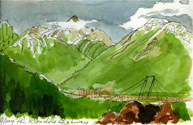 Alaska, art journal, watercolor, sketching, travel, Alaskan native culture, Yukon