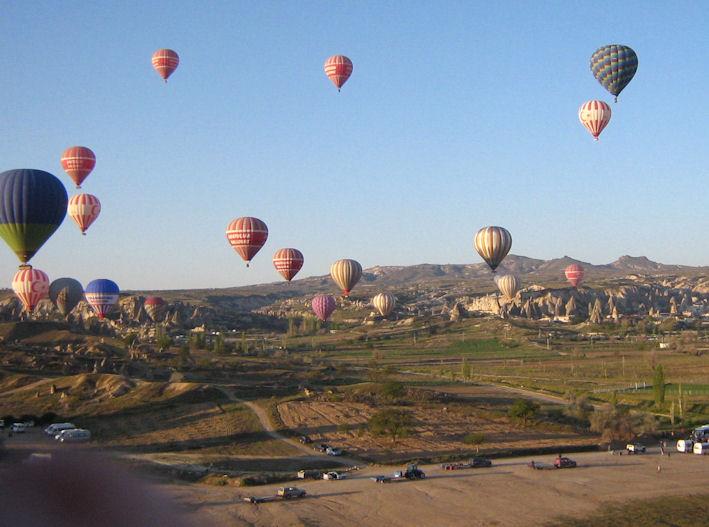 hot air balloons take to the sky