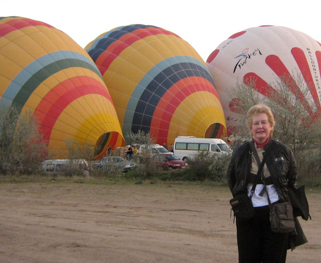 hot air balloons almost ready to go!