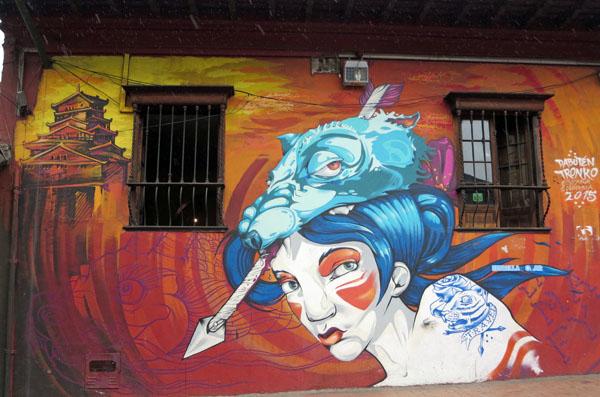Bogota Colombia graffiti art