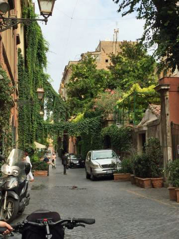 Rome Street bicycle touring
