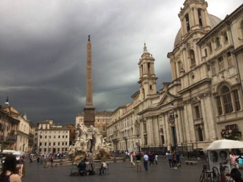 Rome bicycle touring rain