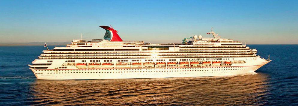 The Carnival Splendor cruise ship at sea
