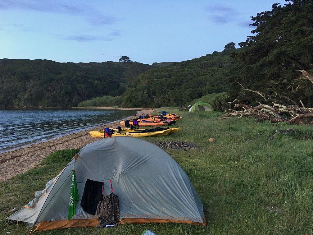 Camping, Tomales Bay, California