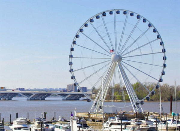 The Capital Wheel, a large Ferris wheel completed in 2014.