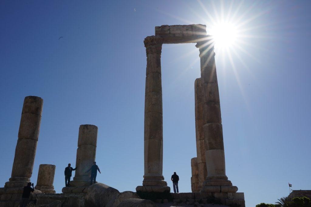 Citadel at Amman in Jordan