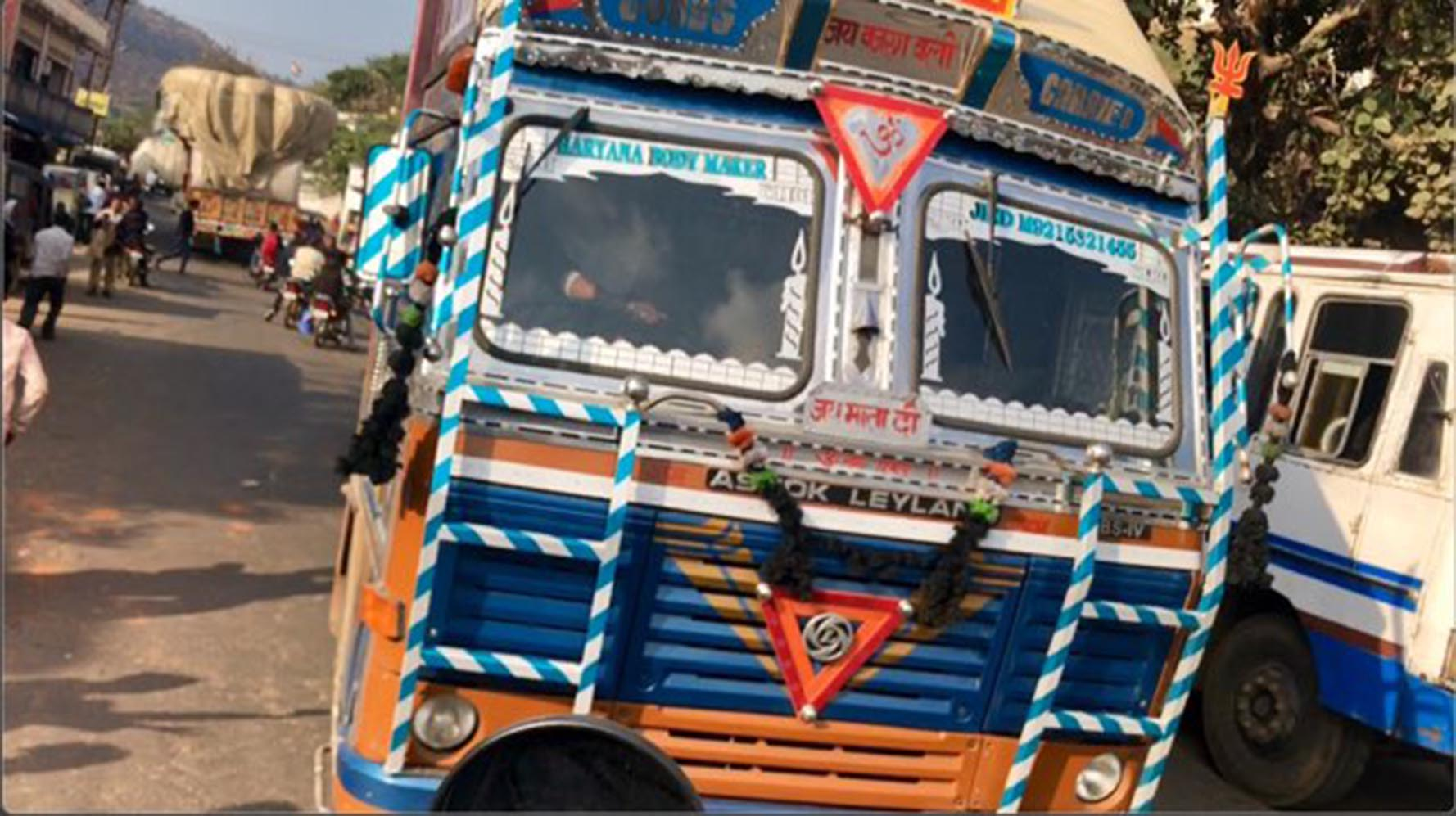 Colorful bus in Rajasthan