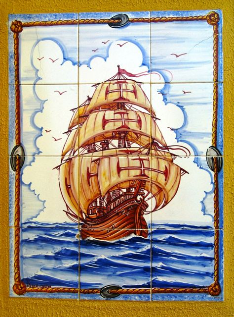 Portugal, wall tile, Magellan, fado