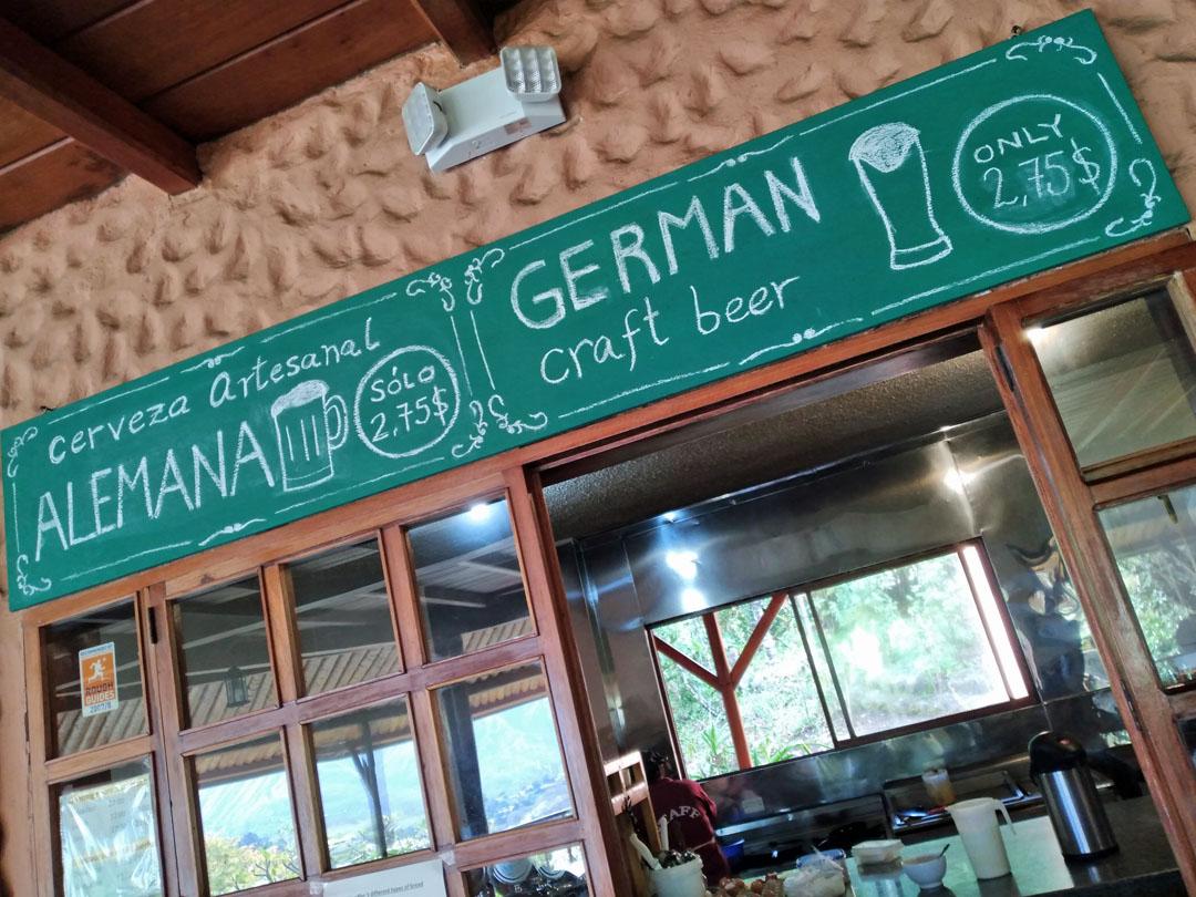 Hosteria Izhcayluma, Vilcabamba, German beer