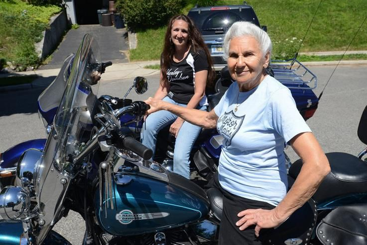 Road sports women over 50 - motorbiking