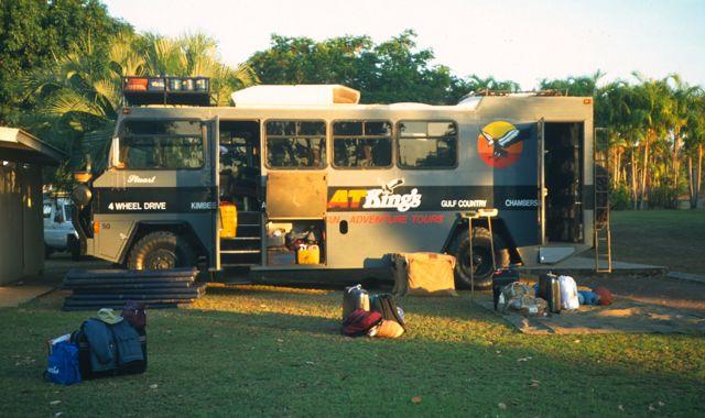 A camping van in Kakadu National Park, Australia