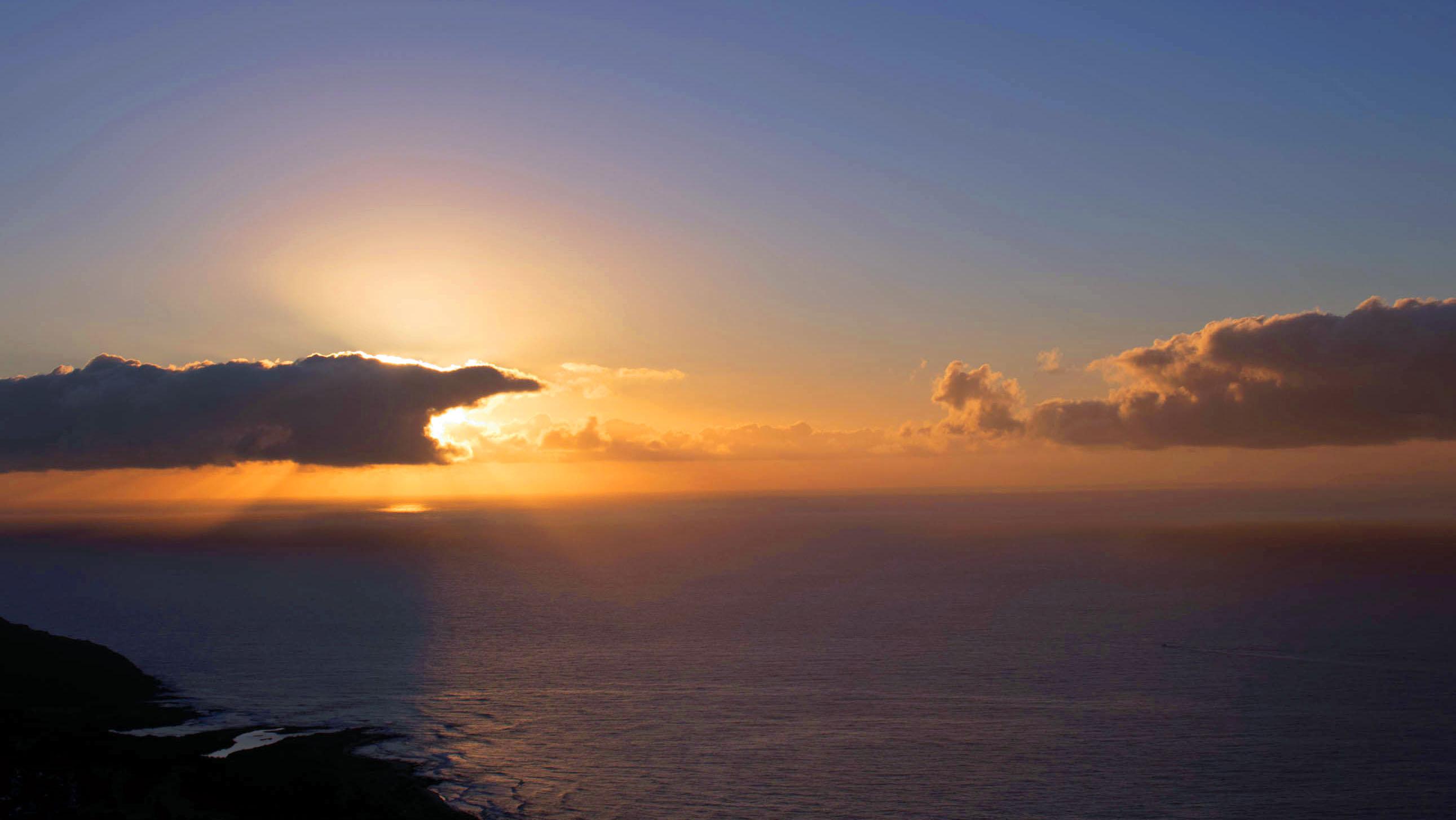 Sunrise at Koko crater, Oahu, Hawai'i