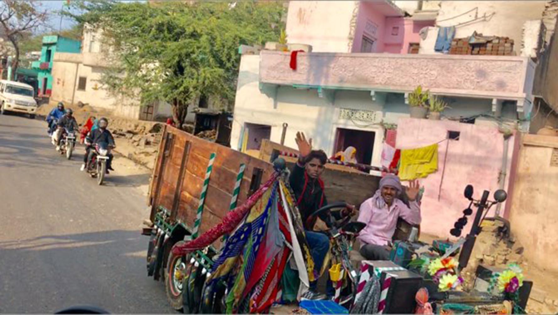 Joyriding in a Jugaad in Rajasthan