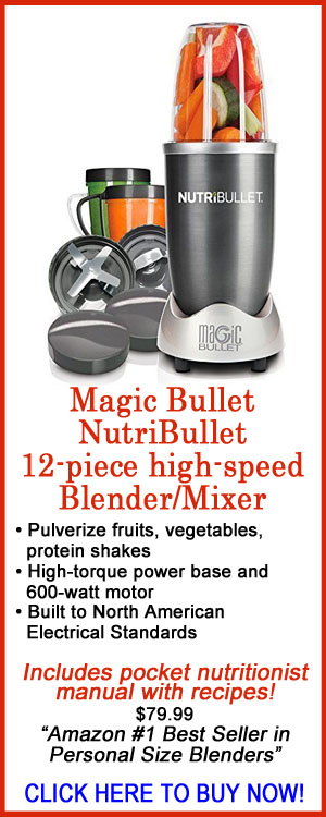 Magic Bullet, NutriBullet, 12-piece high-speed blender/mixer