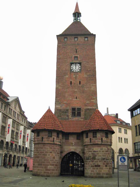 Nuremberg, Germany, old city, medieval, walls, Alstadt, northern Bavaria, trials, Jacob Square, tower