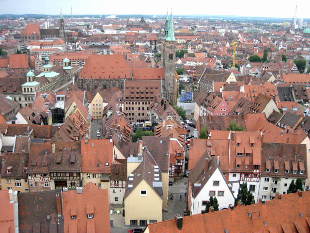 Old City Nuremberg Germany, also called Nürnberg in German