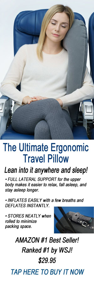 travel pillow, ergonomic