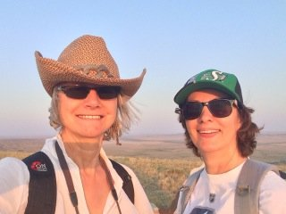 Hiking Grassland Saskatchewan Butte