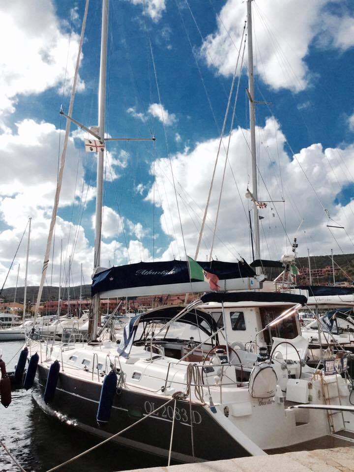 Sailing Sardinia on a windy day