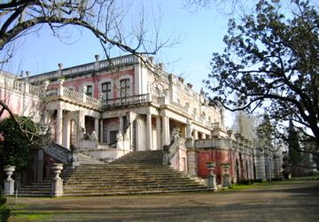 Outside view of Queluz National Palace from the from gardens
