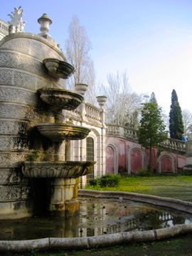 Fountains in the gardens of Queluz Palace