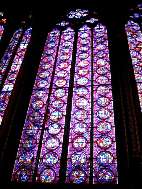 Paris,Sainte Chapelle Windows,the Île de la Cité, France, French adventure