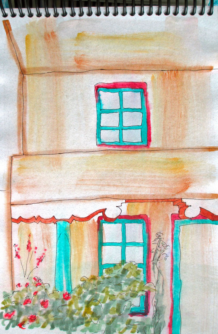 New Mexico, Santa Fe, art journal, sketching, watercolor, Mexican culture