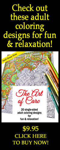The art of Caro: 20 single-sided adult coloring designs for fun & relaxation