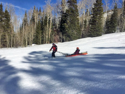 Ski Patrol at Powderhorn Colorado