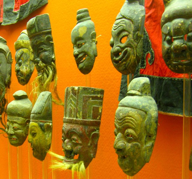 Masks saved from areas to be submerged by the 3 gorges dam project