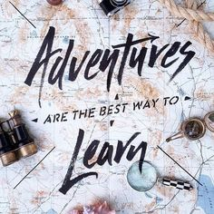 Map Image - quote adventures are best way to learn