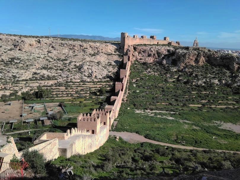 fortress wall of the Alcazaba Almeria