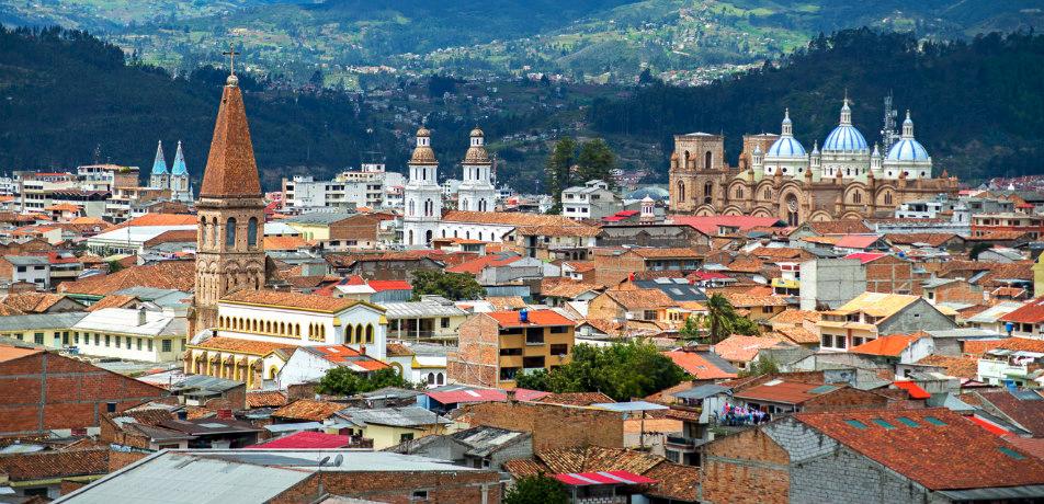 Cuenca city rooftop view