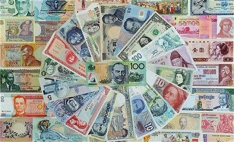Different currency notes