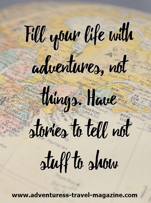 fill your life with adventures - quote written on map