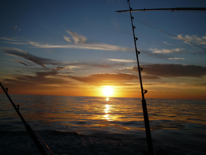 boat mast during lovely sunset