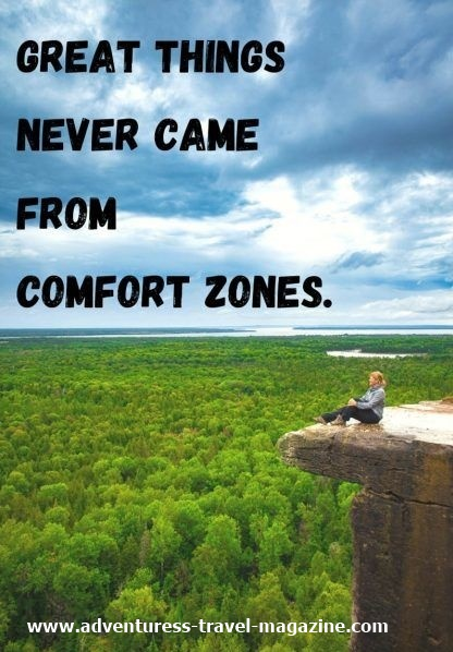 girl on cliff edge comfort zone quote