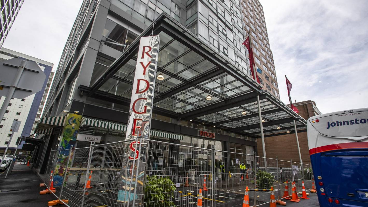 Rydges hotel with fence around